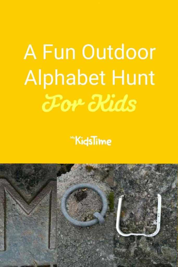 Outdoor Alphabet Hunt For Kids