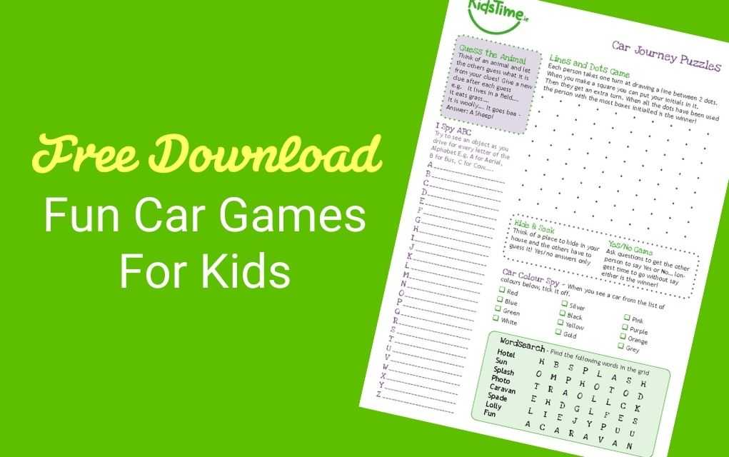 car games for kids lead