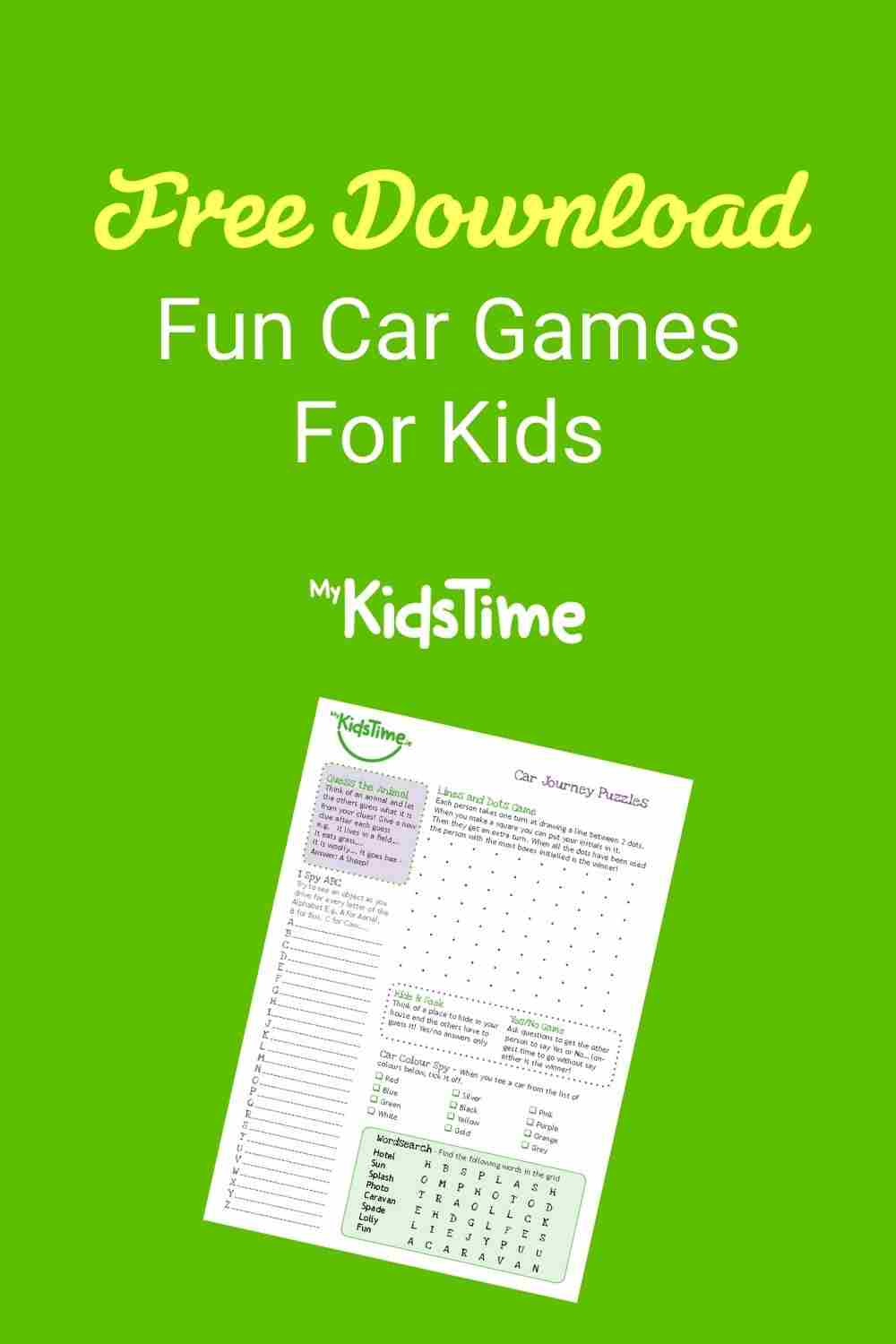 Download car games for kids pinterest