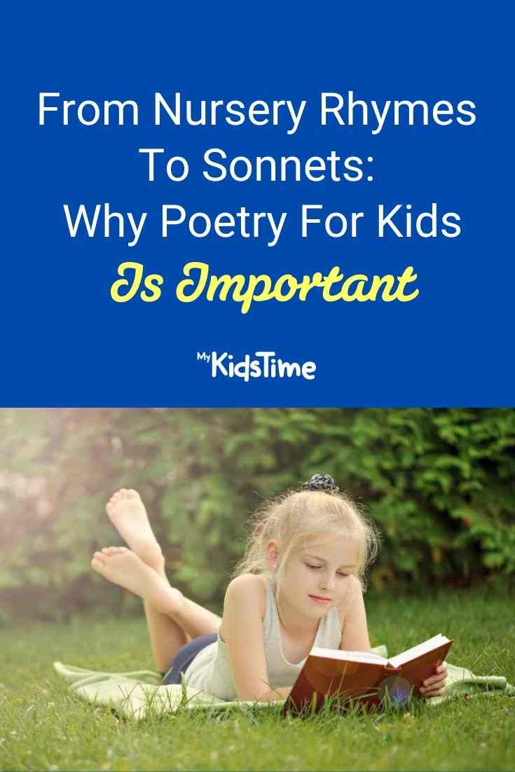 From nursery rhymes to sonnets why poetry for kids is important
