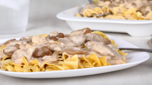 family dinner ideas beef stroganoff