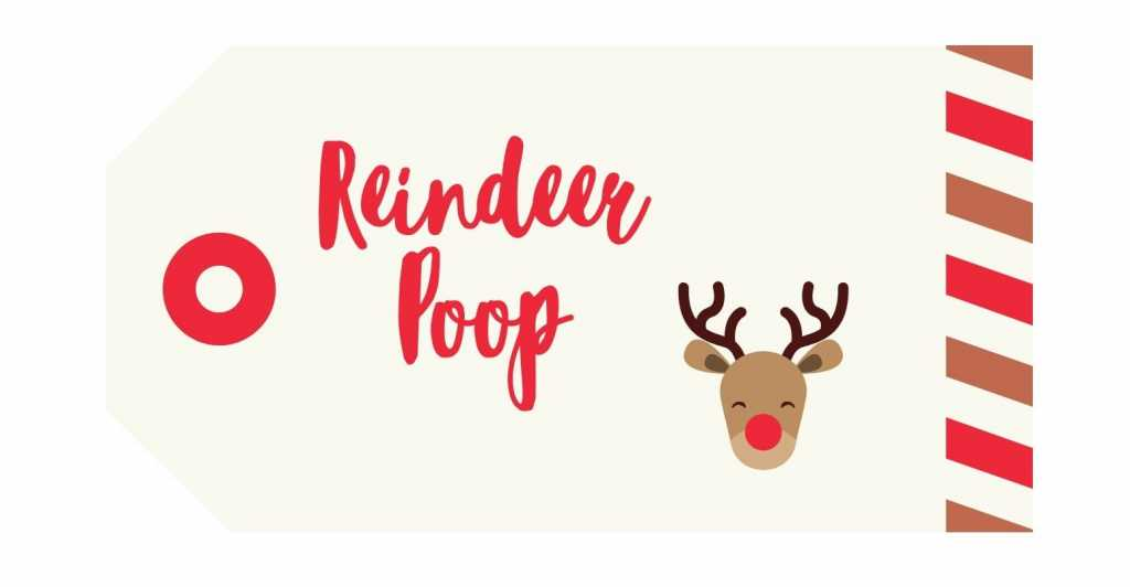 Reindeer Poop label