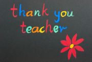 Thank you teacher red flower