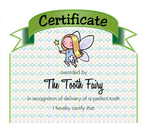 tooth fairy ideas tooth quality certificate