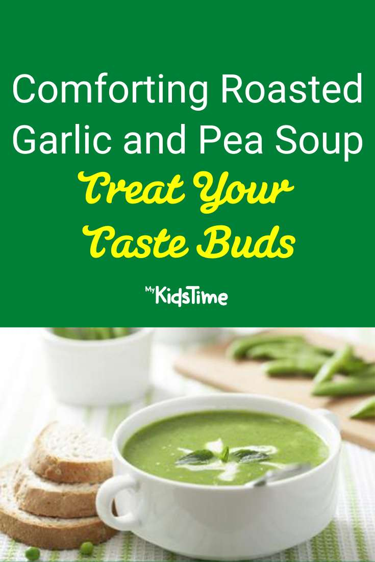 Roasted Garlic and Pea Soup
