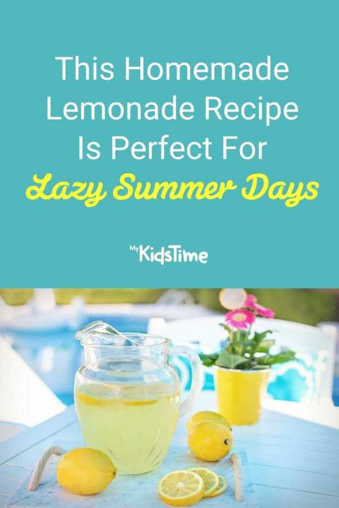 This Homemade Lemonade Recipe is Perfect for Lazy Summer Days