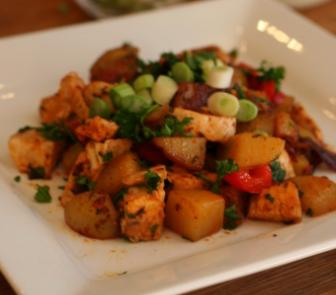 chicken chorizo hash
