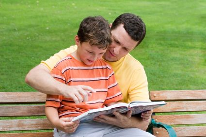 father-son-reading