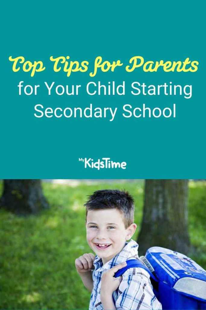 Top Tips for Parents for Your Child Starting Secondary School