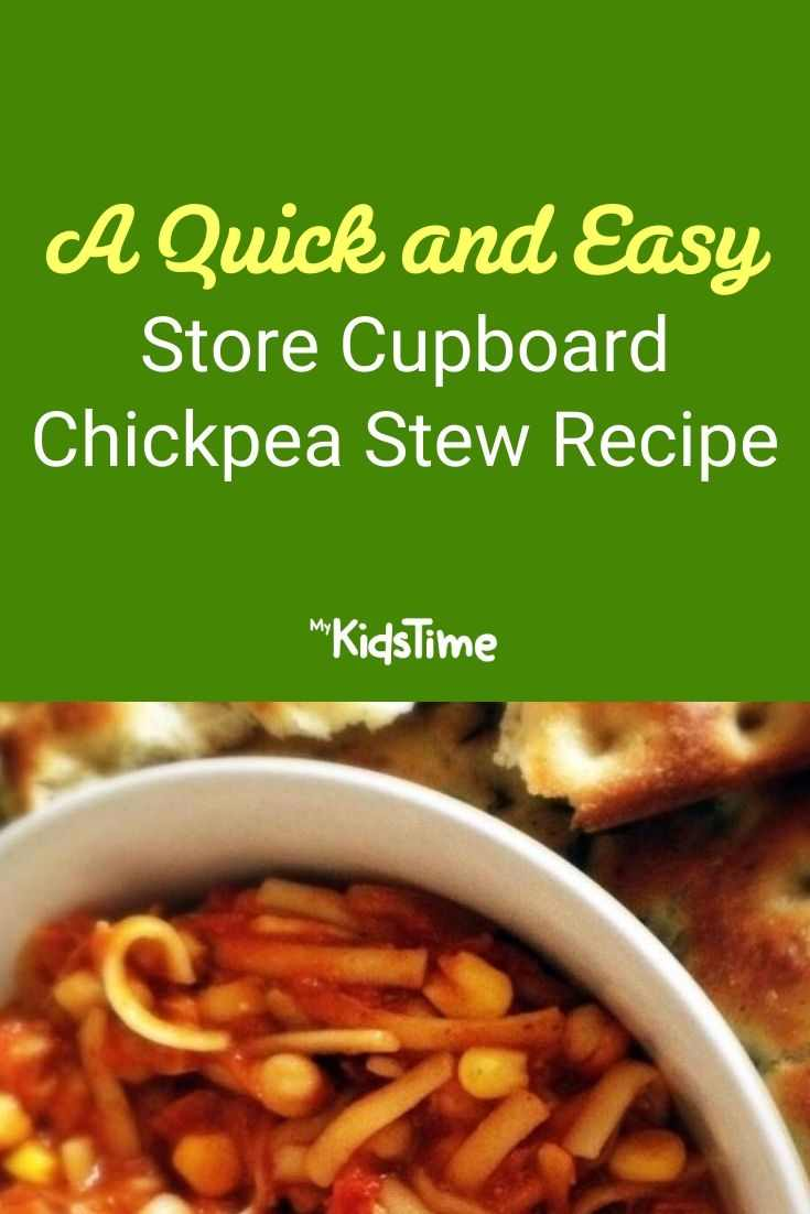 A Quick and Easy Store Cupboard Chickpea Stew Recipe