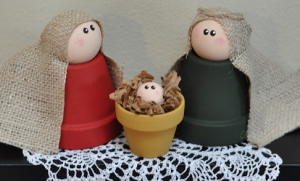 Christmas Craft Ideas clay pot nativity
