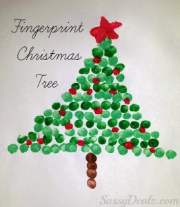 Christmas Craft Ideas fingerprint christmas tree craft