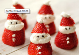 Christmas Recipes santa strawberries