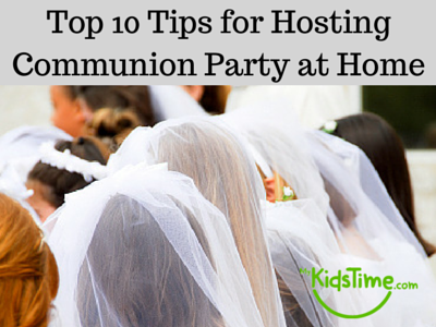 First holy communion party at home for Hosting a party at home