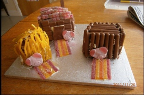 3 little pigs cake