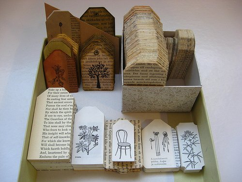 Gift Tags From Old Books