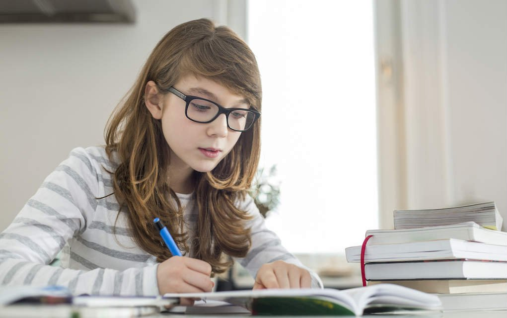 Girl studying for exam preparation tips - Mykidstime