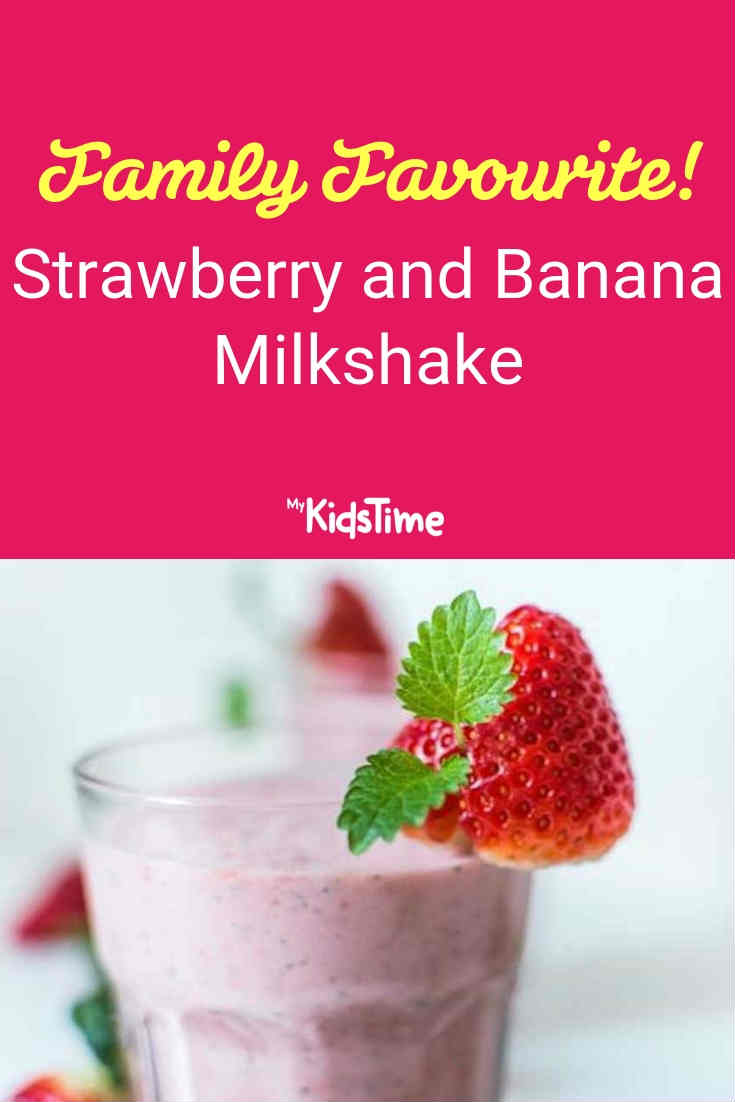 Mykidstime strawberry and banana milkshake