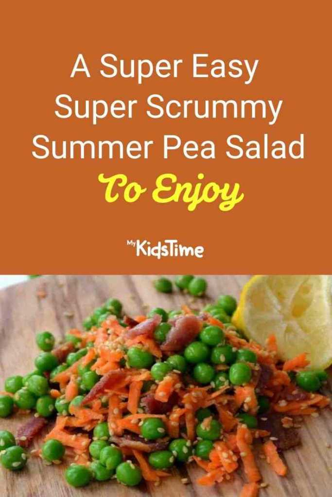 A Super Easy Super Scrummy Summer Pea Salad To Enjoy