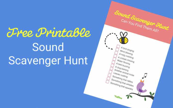 Sound scavenger hunt lead - Mykidstime