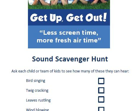 sound scavenger hunt