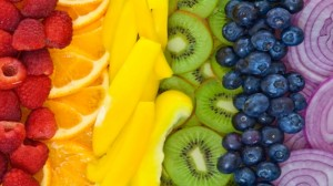rainbow fruit and veg