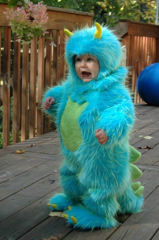 We tracked down the creator of this fabulous Sulley-MonstersInc-style costume who turned out to be Jessica Levitt mom sewer crafter and designer.  sc 1 st  MyKidsTime & Is this the cutest Halloween costume ever?