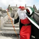 Green Santa at Belvedere House