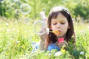 blow bubbles