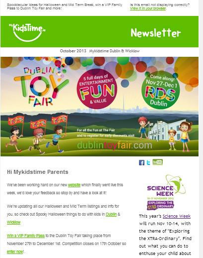 Dublin Toy Fair  Oct Newsletter Screen Grab