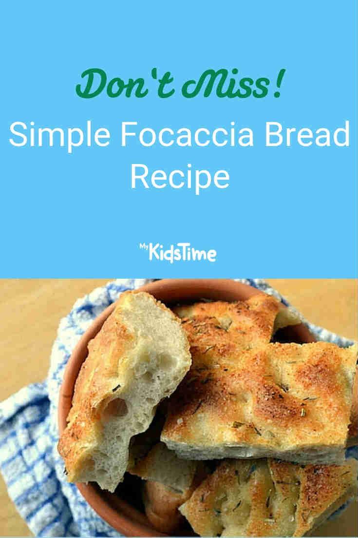 Mykidstime focaccia bread recipe