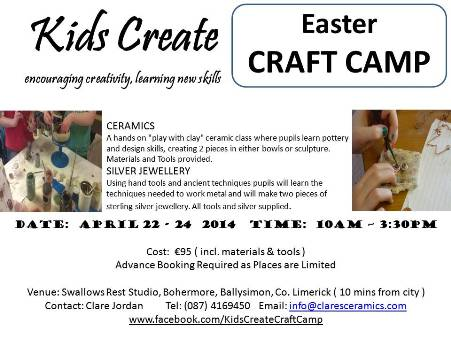 Kids Create Easter Craft Camp_Promo Flyer_s