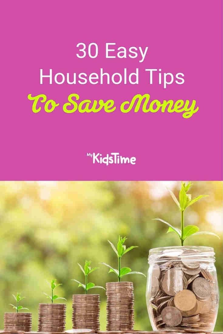 Household tips to save money - Mykidstime