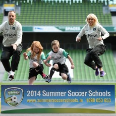 FAI Eflow Summer Soccer Schools Launch with David Meyler and Stephanie Roche
