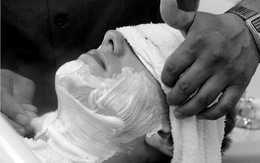 father's day gift ideas hot towel shave at barber