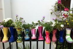 free things to do with kids upcycling wellies