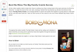 BnM Big Family Craicle Survey Page