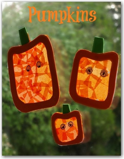 pumpkin sun catchers