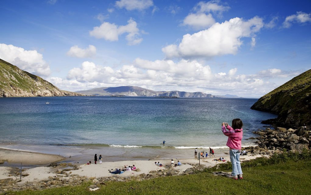 Fun family walks in Mayo Keem Bay Achill Island