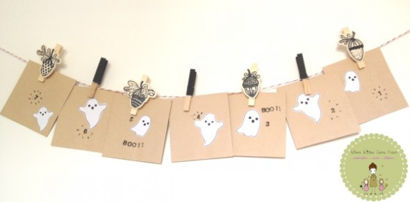 Simple Halloween Crafts - countdown idea