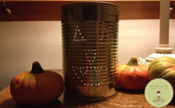 Simple Halloween Crafts - Tin Can Jack O'Lantern