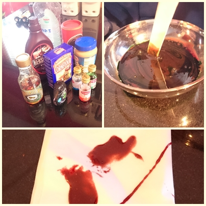 Halloween science experiments - fake blood