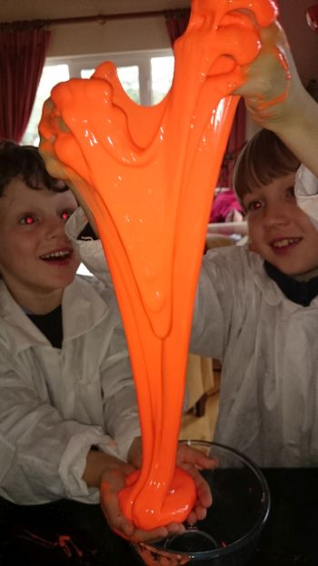Halloween science experiments - slime