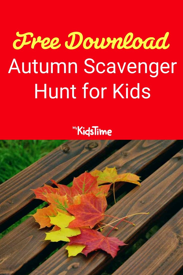 Autumn Scavenger Hunt for kids