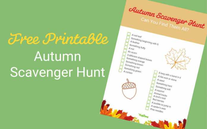 Autumn scavenger hunt lead - Mykidstime
