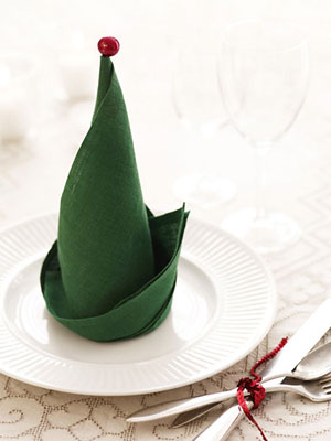 elf-hat-napkin