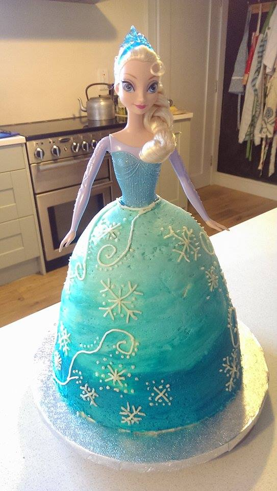 Instructions For Elsa From Frozen Cake