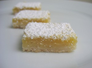 Homemade Food Gifts lemon bars
