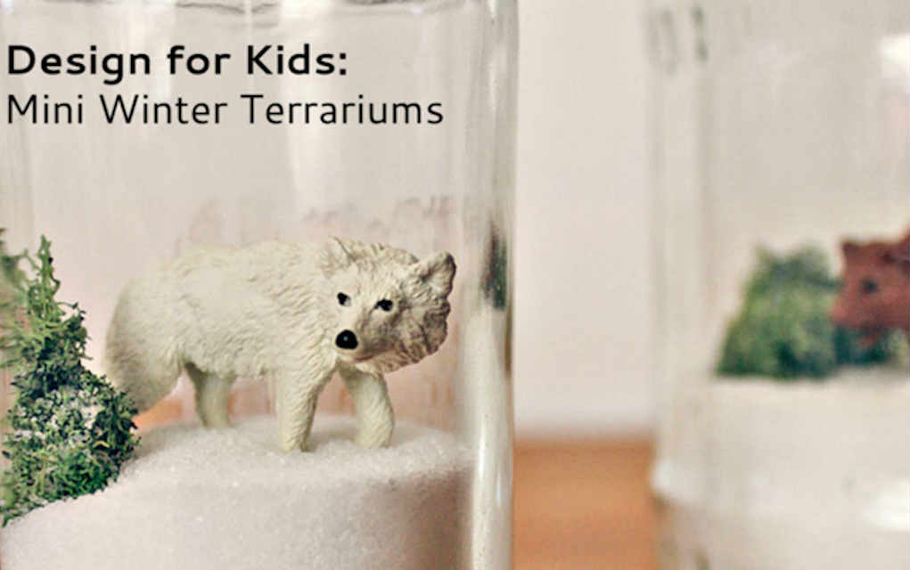 Mini Winter Terrarium for funky crafts for kids – Mykidstime