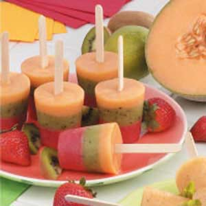Striped Fruit pops